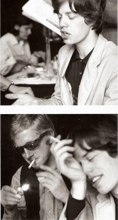 Mick Jagger with then-manager, Andrew Loog Oldham