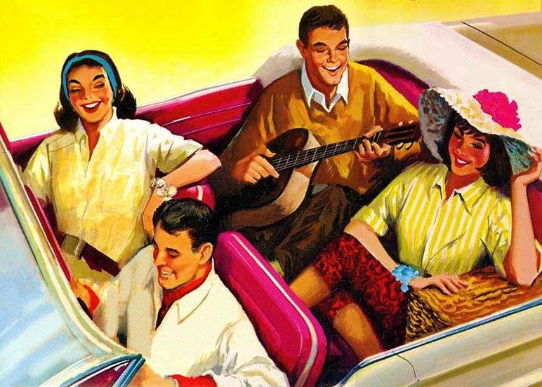 Jaycees Safe Driver Program 1959 Brochure cover detail