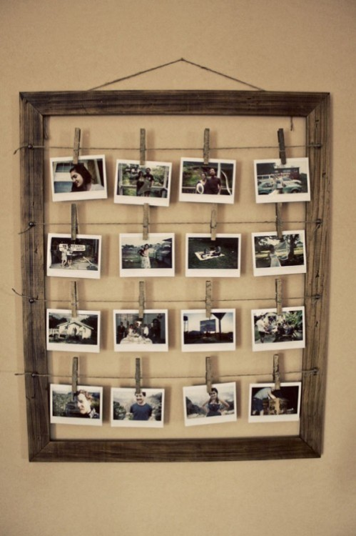 Create a photo frame for several photos (especially Polaroids) From Shelterness