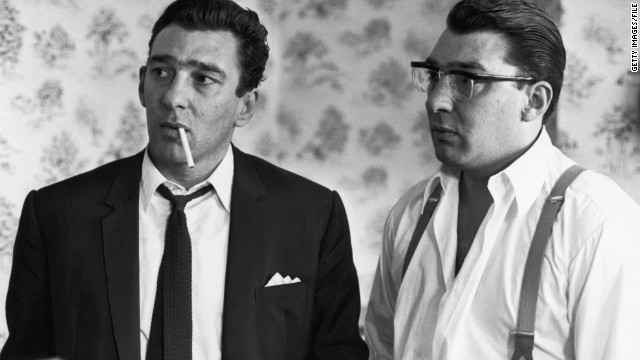 THAT SHIT KRAY. Reggie and Ronald Kray, East London gangsters.