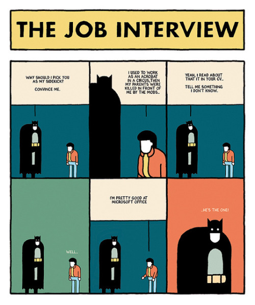 heyoscarwilde:  …he's the one! The Job interview by Giacomo Gambineri :: via giacomogambineri