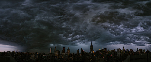 Manhattan this evening. Photo by Ryan Brenizer via Alex Ogle