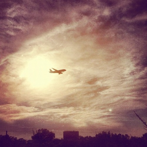 #photoadayjuly #sunshine #sunset #airplane #plane #clouds #sky (Taken with Instagram)