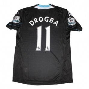 NEW Chelsea 2011/12 Away black Soccer Jersey #11 DROGBA $21.00
