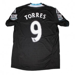 NEW Chelsea 2011/12 Away black Soccer Jersey #9 TORRES $21.00