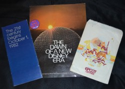 Some items from my vintage Epcot Center collection. All items are either from pre-opening, or opening day.