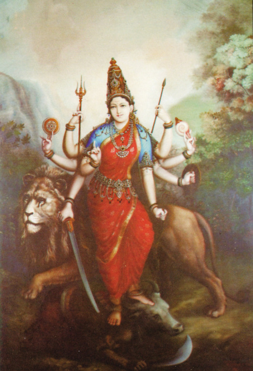 shatkona:  The Goddess Durga.