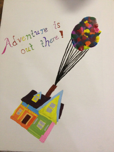 loveofdisney:  Up house crayon art