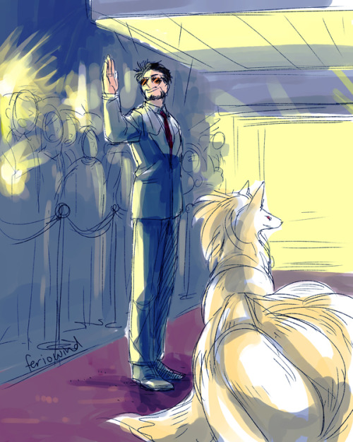 Tony and Ninetails being fabulous.  ——  Yes, I should really learn how to shade 8F