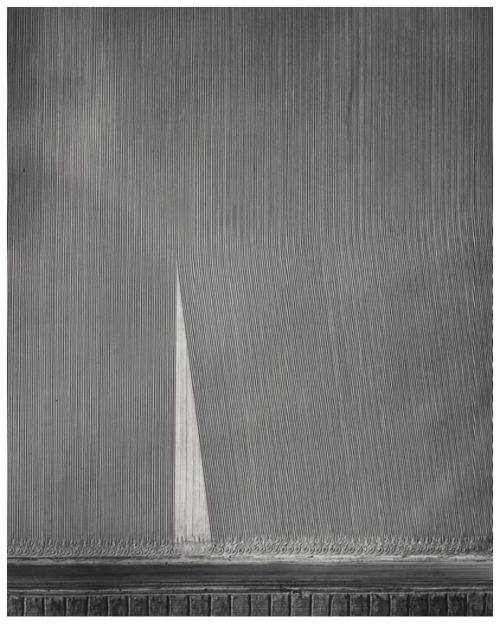 "William Garnett ""Plowed Field, Arvin, California"", 1951 silver print, printed ca. 1970s 19 7/8"" x 15 7/8"" Lee Gallery Winchester, Massachusetts  Yep."