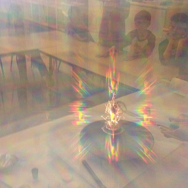 #madscience #fireworks #class #chemistry #students #defractionglasses #colors #rainbow #summer2012 #summercamp  (Taken with Instagram)