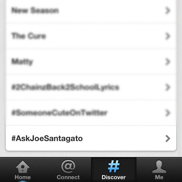 jsantagato:  We trending! Ask some questions (Taken with Instagram)