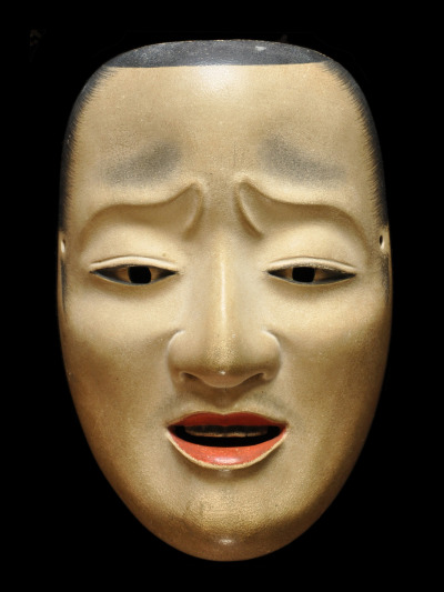 "This mask takes its name from the early Heian poet, Ariwara no Narihira. He was a man born of nobility and a lieutenant-general (chujo) of the fifth rank. He was also called ""one of the six famous poets"" in that period. This mask was modeled on him. It is used for the noblemen of Heike clan such as ""Kiyotsune"" and ""Tadanori"" in Noh plays http://nohmask.jp/"