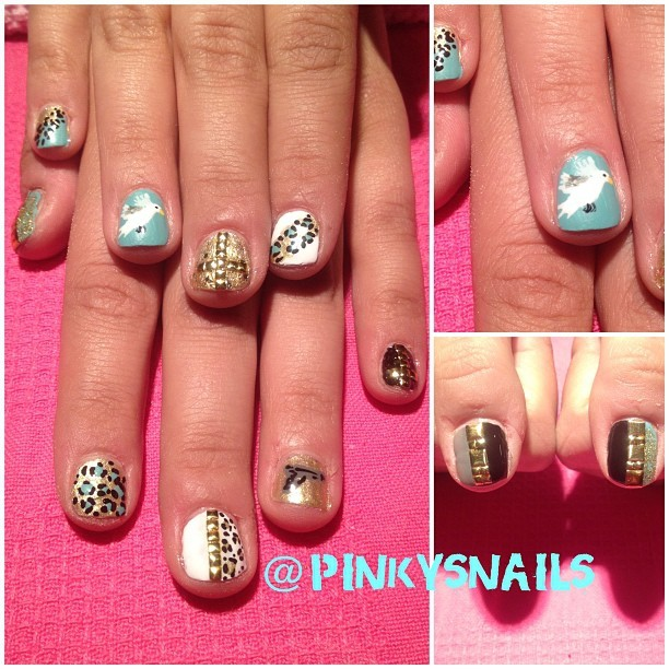 @alisonsharp's nails inspired by local band Dove and Gun ! (Taken with Instagram)