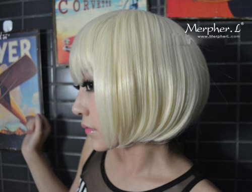 Stylish Short Silky Straight Kanekalon Wig Hairpiece Skin Top Design  shop from Merpher.L