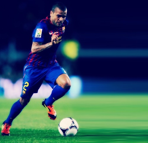 Unsung Heroes: Dani Alves  Why I love him:  he is the perfect player: right-back, right-midfielder, right-winger, center-forward, central midfielder, support striker, tackler and playmaker, all wrapped into one, hyperactive ball. Athlete and aesthete, ultra-talented and ultra-competitive, a footballing Sonic the Hedgehog, in your face and in your penalty area. And his own.