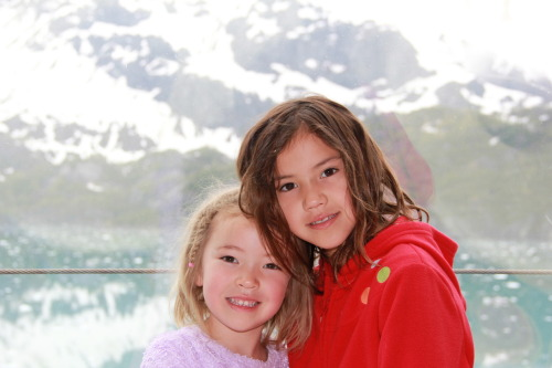 Tammy and Sophia in Glacier Bay