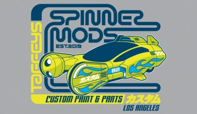 Spinner Mods - by Sublevel StudiosOn sale for 24 hours only for $10 from ShirtPunch .