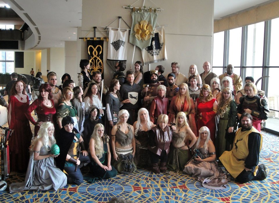gameofthronescostuming:  Calling all Game of Thrones Costumers/Cosplayers! Looking for a place to share your work? Get support? Help?  Check out our facebook group! ^_^ (Photo from DragonCon '11 meetup)