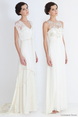 helloweddingdiary:  Catherine Deane's bridal collection.