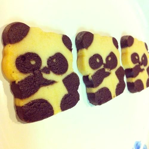 Panda cookies with my tea (Taken with Instagram)