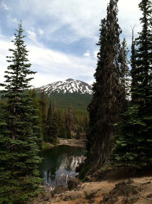 Mt. Bachelor from Sparks Lake, my base camp last week……