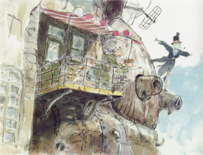 Concept art for Howl's Moving Castle