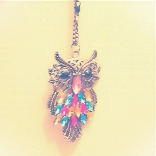 Owl ⛄ #necklace#vintage#igpastels  (Taken with Instagram)