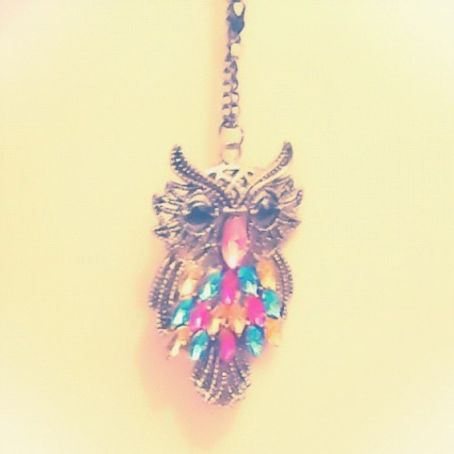 Owl ⛄ #necklace#vintage#mycollection#igpastels  (Taken with Instagram)