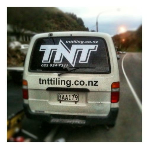 I designed and applied the new Graphics for TNT Tiling. Business Cards are next. Caleb owns TNT and is known as the best Tiler in Wellington…tell him I sent you for a deal if you need tiling done.  Kingpin Graphics - Wellington Sign Makers