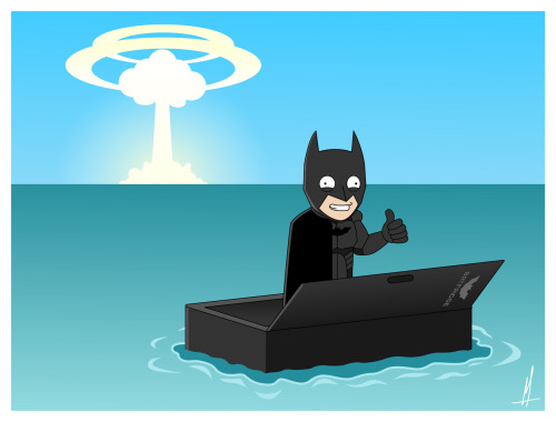 Thanks for the Tip, Indy! How Batman survived a nuclear blast.