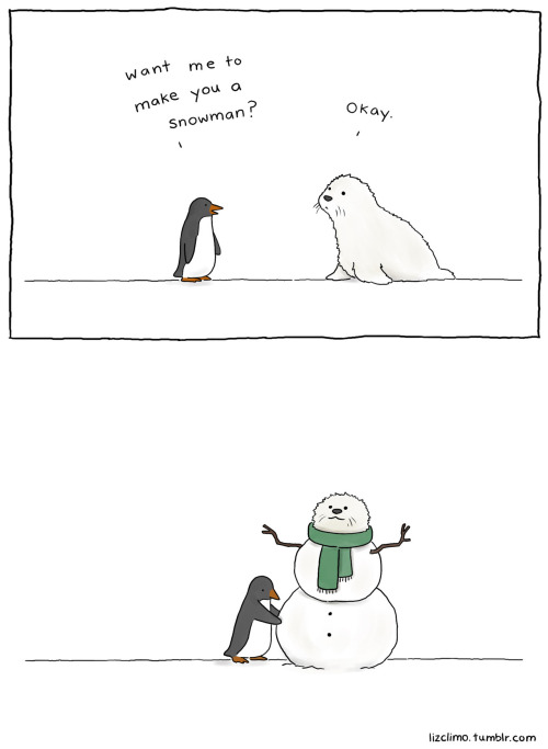 lizclimo:  how to make your friend a snowman