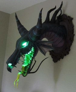 "Paper Mache ""Maleficent"" Dragon Trophy."