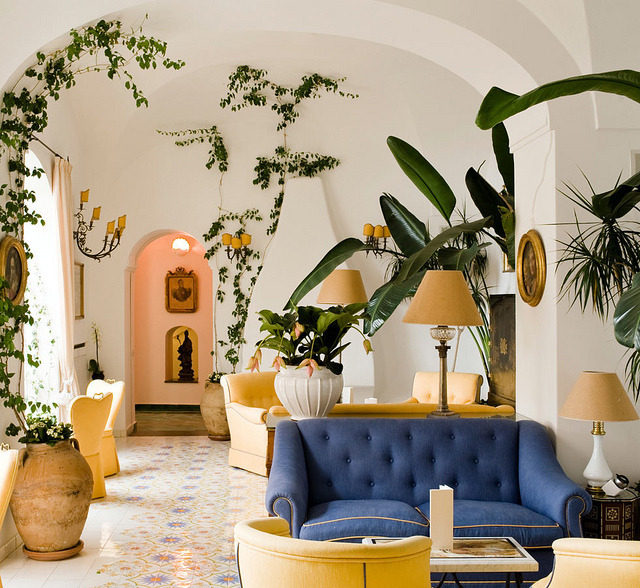 | ♕ |  The Lounge at Le Sirenuse - Positano  | by © Travelive