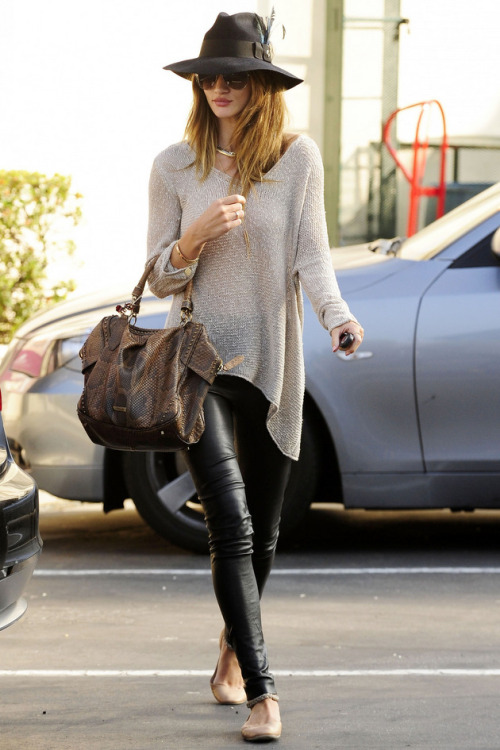 Not sure that I can pull off leather pants, but I do love this sweater! #fashion