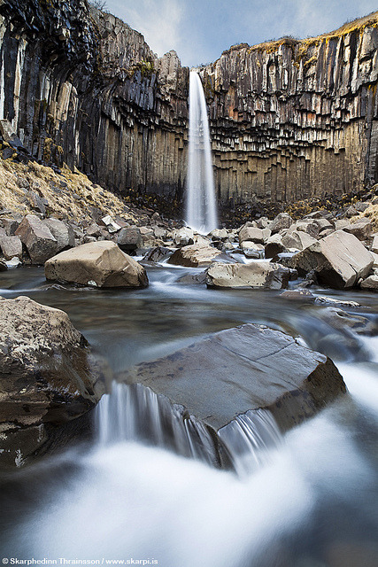 "Svartifoss ""Black Falls"" in Skaftafell National Park, south Iceland by skarpi - www.skarpi.is on Flickr."