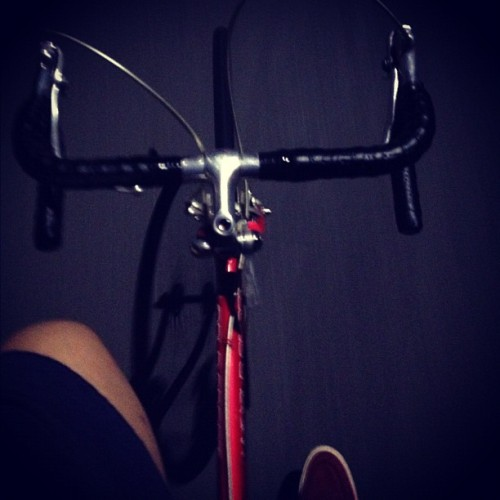 #roadbike #bike #nightride no hands (Taken with Instagram)