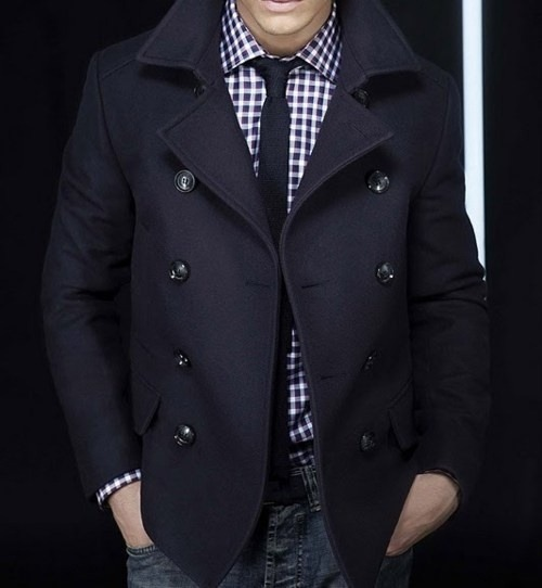 thetieguy:  this upcoming fall/winter goal? find a peacoat that looks and fits me!