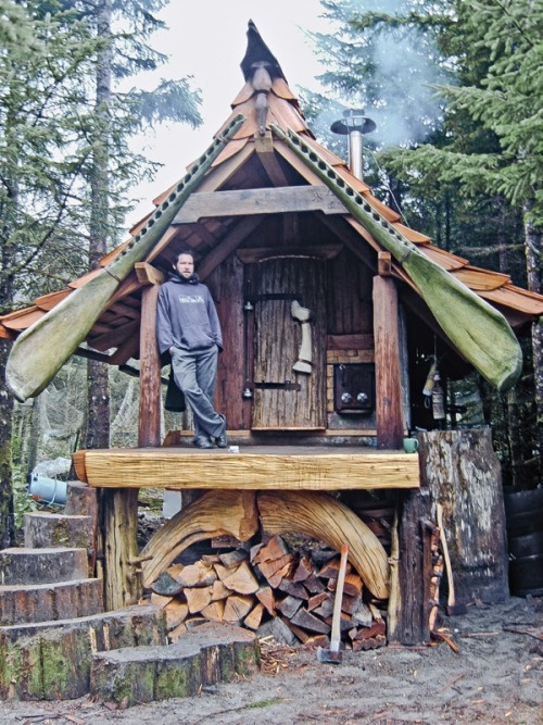 Whale bone banya (sauna) in British Columbia.