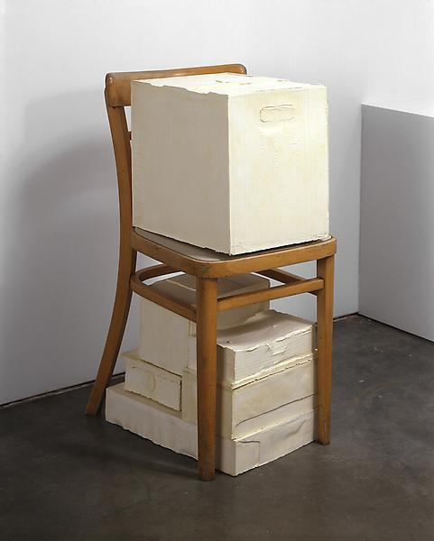 Rachel Whiteread WAIT, 2005Plaster and wood31 1/8 x 15 x 17 3/4 inches (79 x 38 x 45 cm)