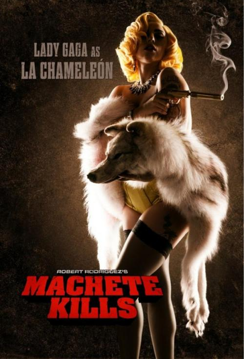 posterpark:   MACHETE KILLS Director: Robert Rodriguez Writer: Kyle Ward Stars: Danny Trejo, Amber Heard and Sofía Vergara Synopsis:  The U.S. government recruits Machete to battle his way through Mexico in order to take down an arms dealer who looks to launch a weapon into space.    Can't wait for this.