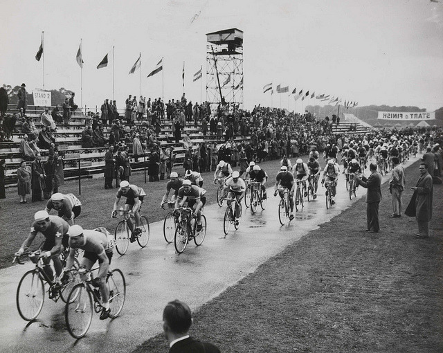 The Olympic Cycling Road Race at Windsor, London, 1948. by National Media Museum on Flickr.