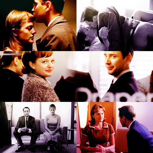 "captainsexualtension:  Every Couple That I've Shipped: Pete & Peggy - Mad Men""You. I've been thinking about everything that's going on. And I thought…Who'd care if I was gone? I mean, Trudy would care, but she doesn't know me. But you do. And I know you. And I think you're perfect.""""I'm not perfect, Pete.""""Yes, you are. And I wish I picked you then. I love you. And I want to be with you. What? Didn't you know that?""""I could have had you in my life forever if I wanted to."""