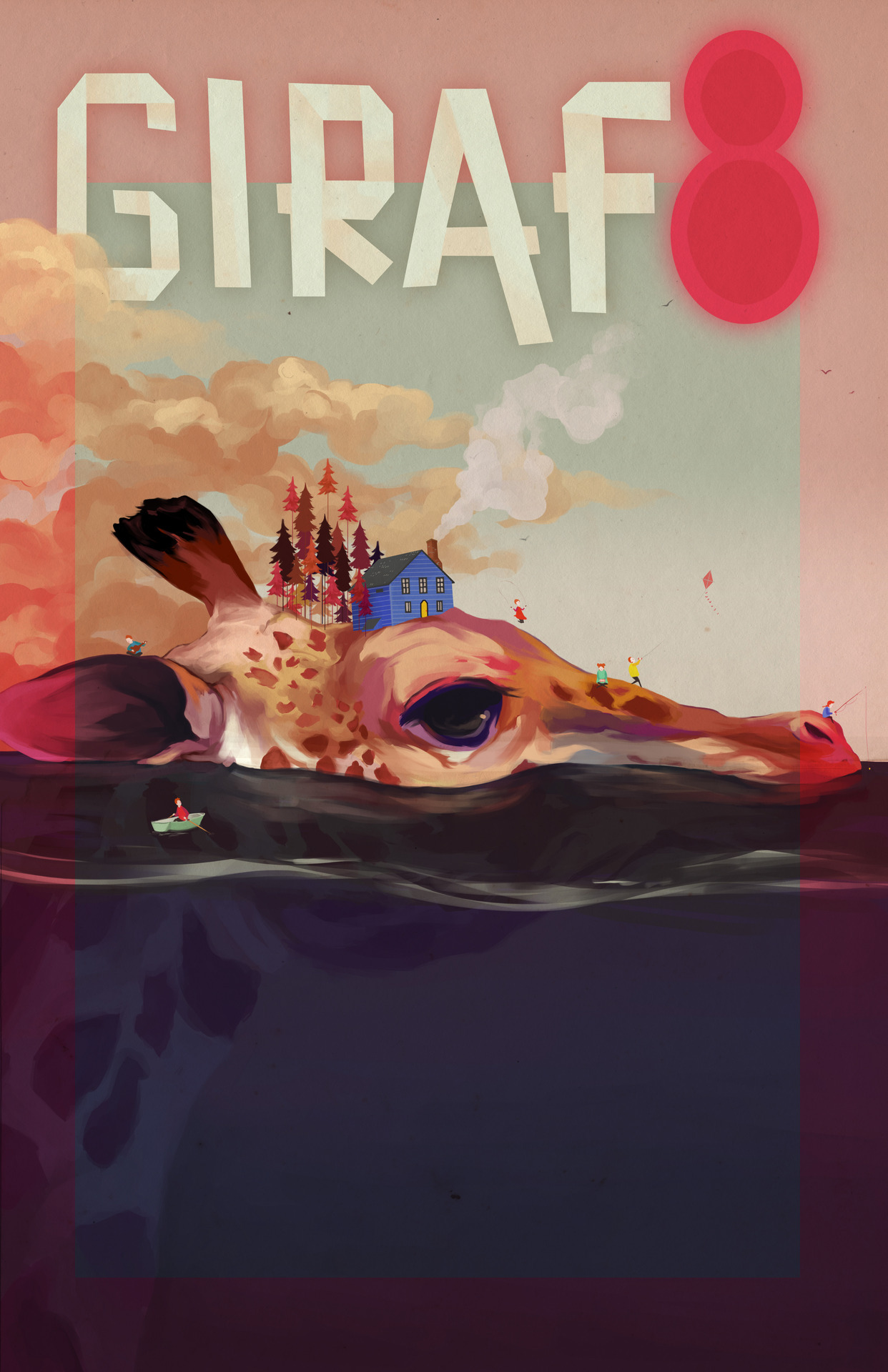 This is the poster I made for GIRAF (the animation festival in Calgary). It was really fun to do AND for the first time ever, I decided to save progress images. How nice * o*