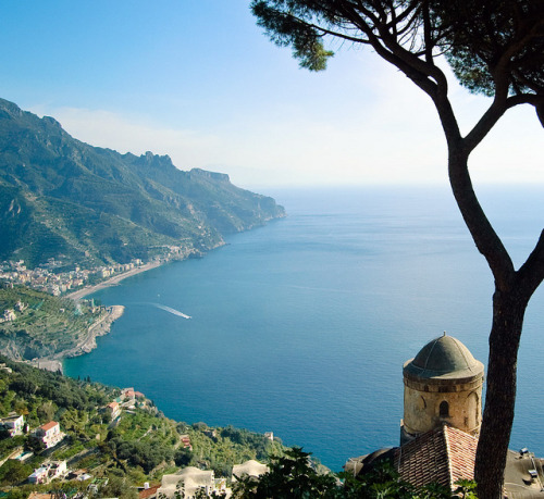 | ♕ |  View of Ravello - Amalfi Coast, Italy  | by © Travelive