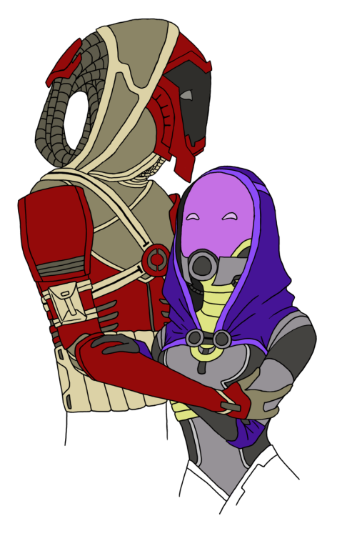 ochu:  Mass Effect 30 Day Challenge Day Seventeen: Favourite Quarian. ◙⋆Kal'Reegar with Tali
