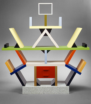 midcenturymadmen:  'Carlton' room divider by Ettore Sottsass for Memphis, 1981. Most iconic piece of Memphis design. Carlton