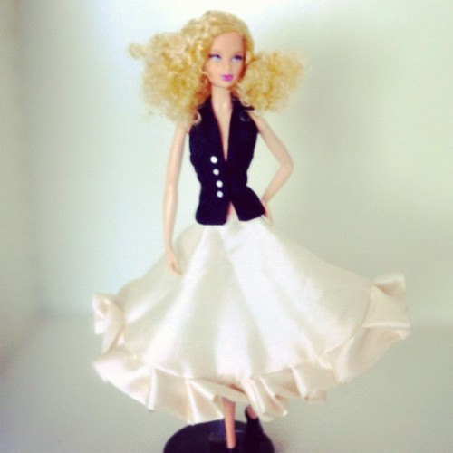 My #Barbie got a new #couture skirt ! Hand made by me ☺ #dolls #doll #clothes @barbie @barbiecollector  (Taken with Instagram)