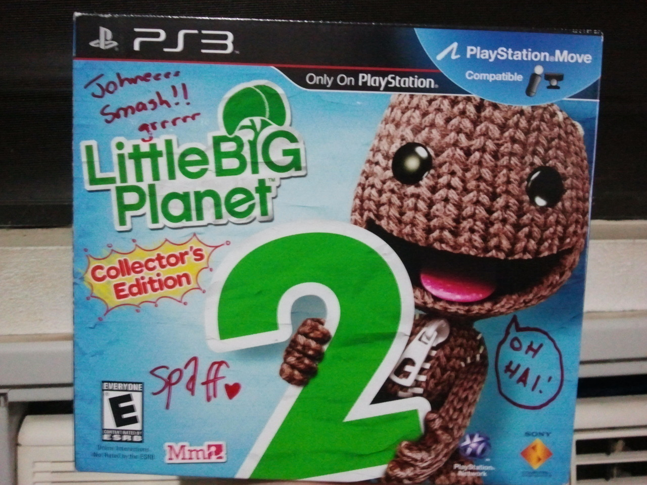 My LittleBigPlanet 2 Collector's Edition, signed by Media Molecule, unopened. So lucky to have this! Also, I just got into the LittleBigPlanet Karting beta. Woo!