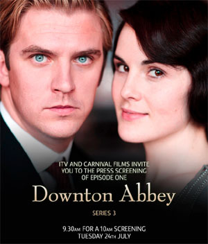 Series 3 poster for Downton Abbey BLUE STEEL!